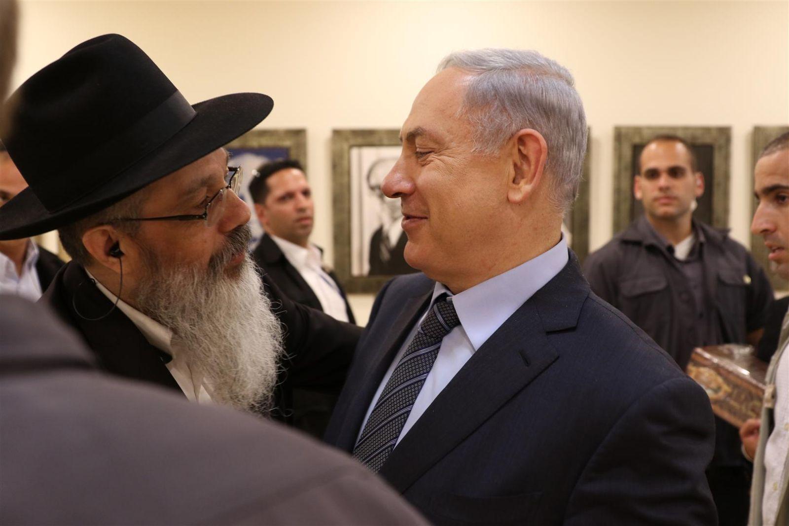הרב נחשון נפגש עם ראש הממשלה